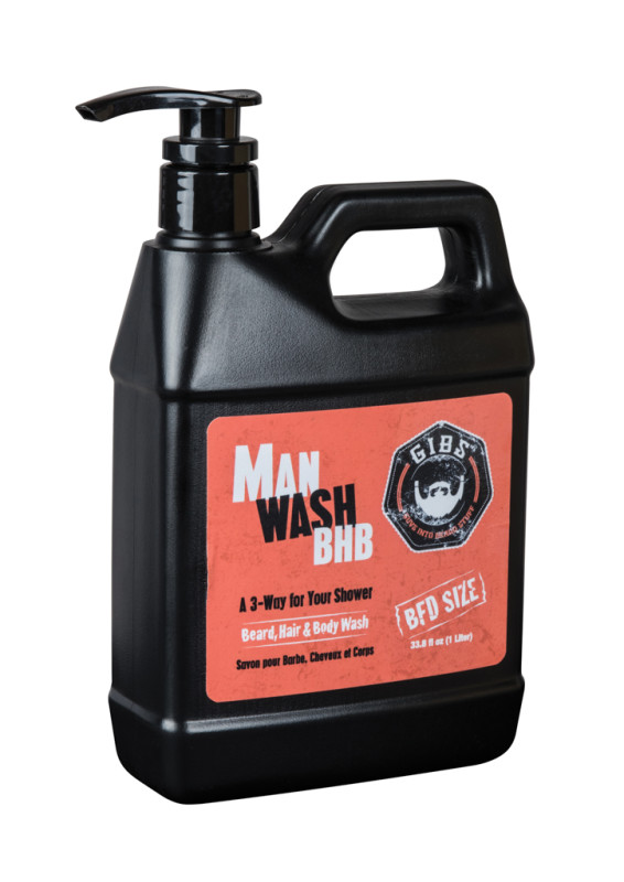 Shampoo per barba Gibs Grooming: Man Wash BHB 1000 ml