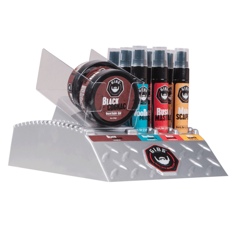 Olio da barba Gibs Grooming DIAMOND PLATE DISPLAY