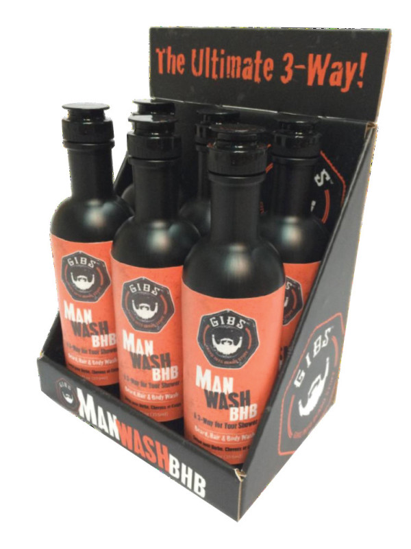 Shampoo per barba Gibs Grooming MAN WASH DISPLAY